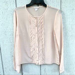 CLUB MONACO Nude silk top blouse Size Small / S